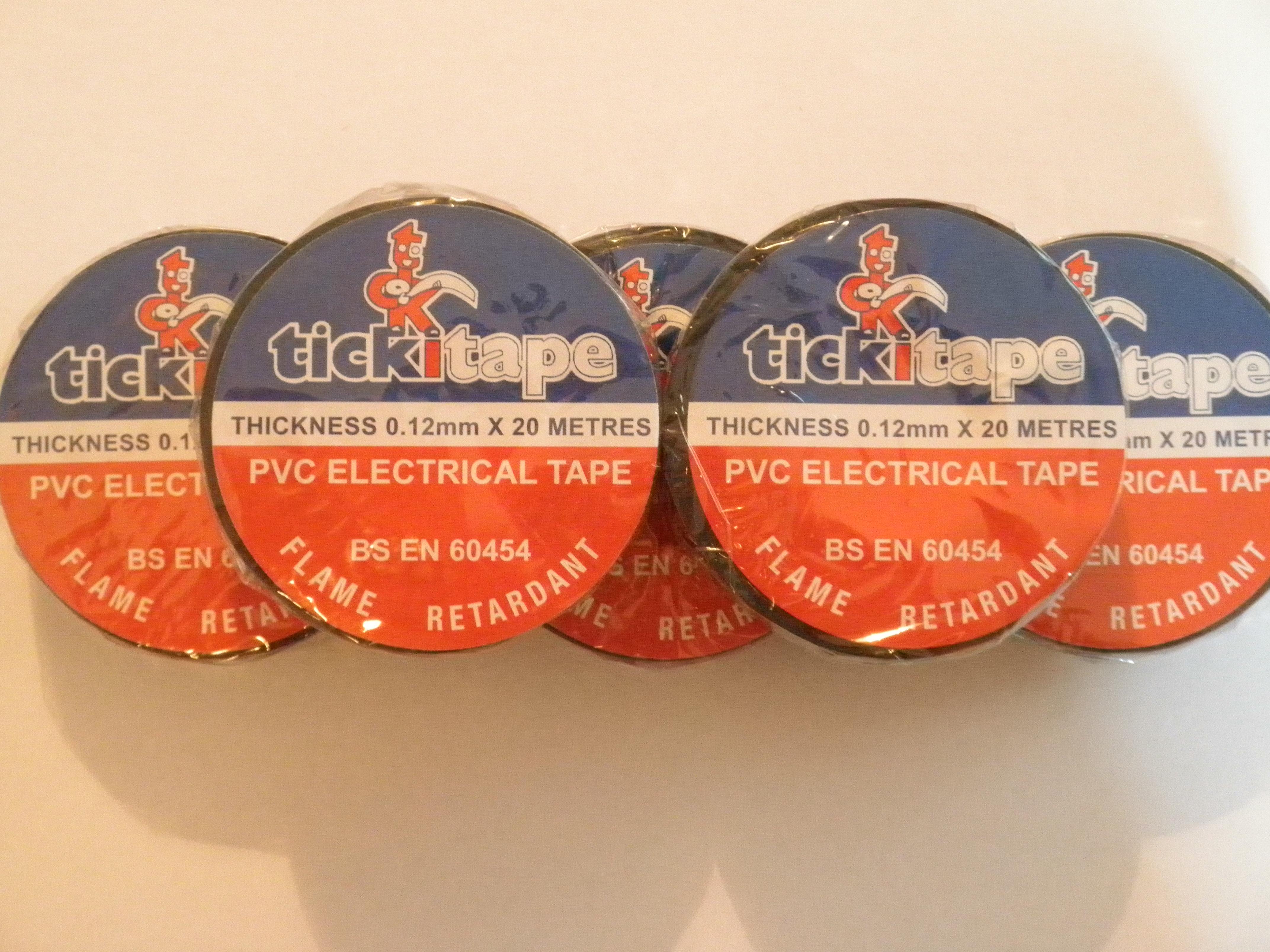 Black Rolls of PVC Tape
